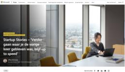 Startup Stories – 'Verder gaan waar je de vorige keer gebleven was, blijf up to speed'