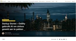 Startup Stories – Oddity gebruikt AI om zinloos geweld aan te pakken